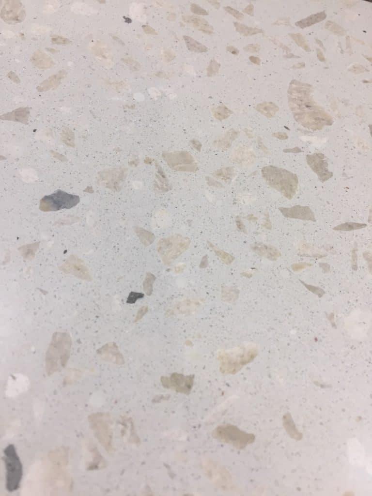 White sand concrete, with light & white aggregate